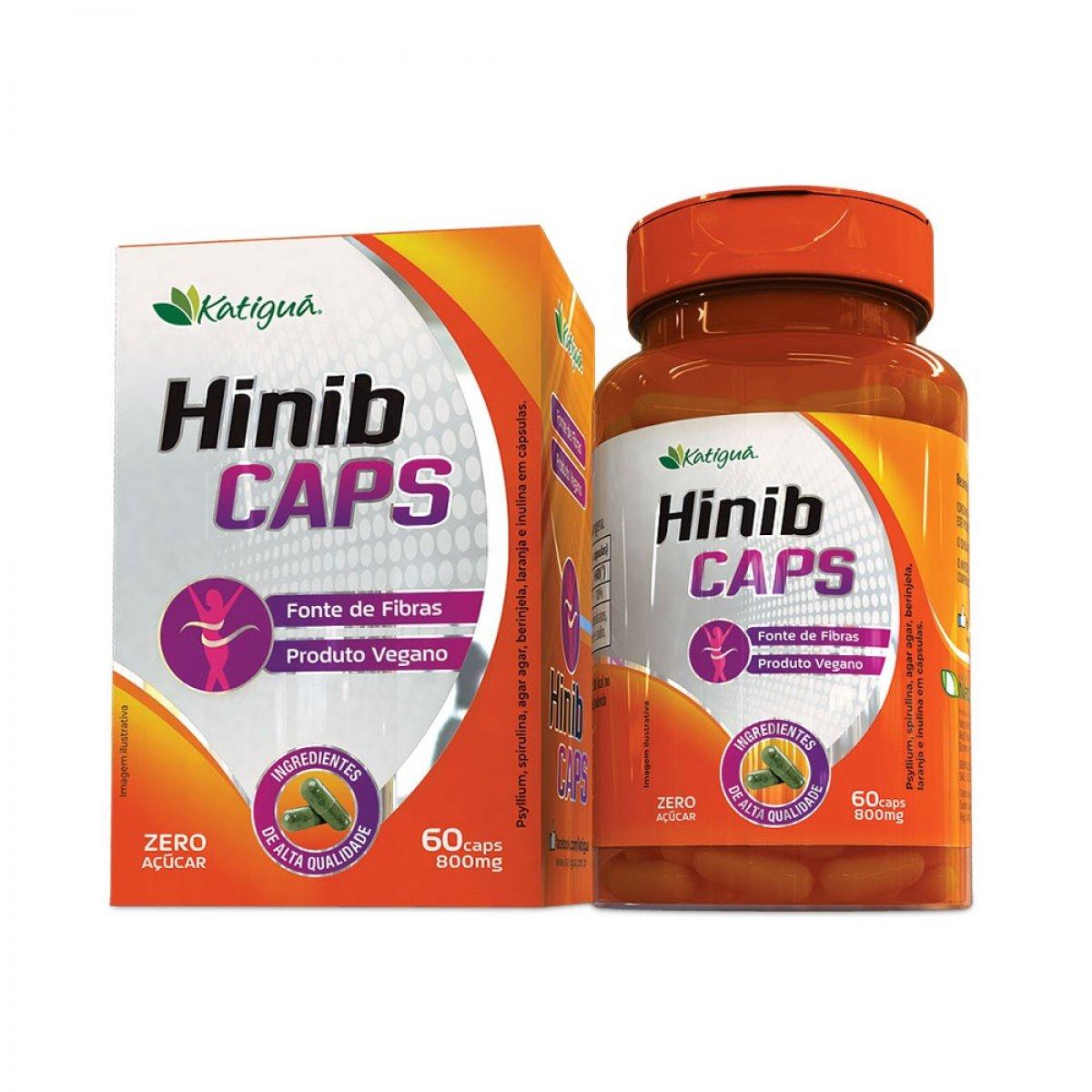 Hinib Caps - Psylium, Spirulina, Agar Agar, Berinjela, Laranja e Inulina em Cápsulas-main