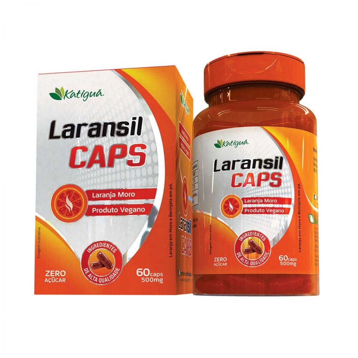 Laransil Caps - Laranja Moro e Berinjela em pó.