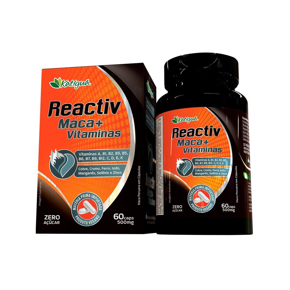 Reactiv Maca peruana  com vitaminas e minerais-main