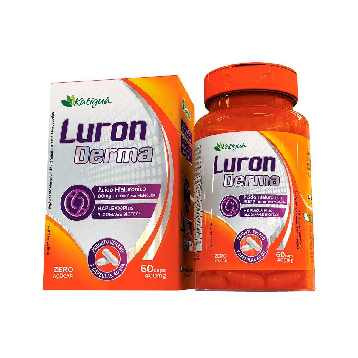 Luron  derma  - Ácido Hialurônico de baixa densidade molecular + Vitaminas e Minerais para a pele-main