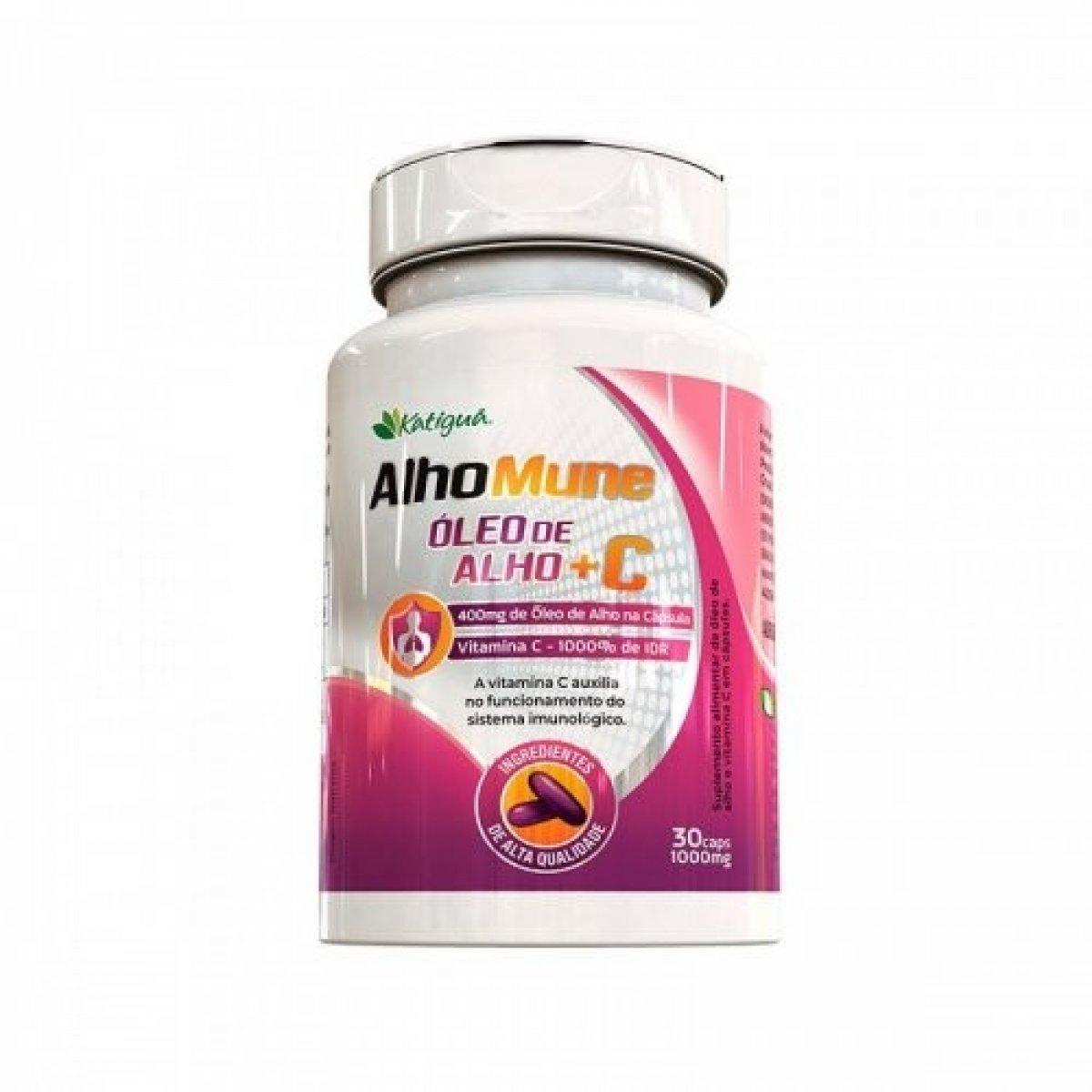 AlhoMune Óleo de Alho + Vitamina C